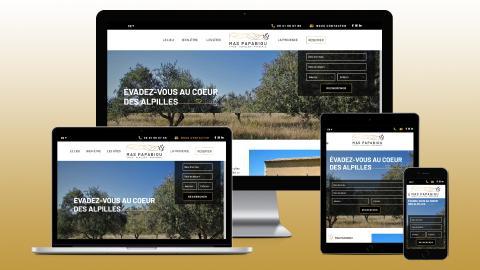 creation site internet gite alpilles provence