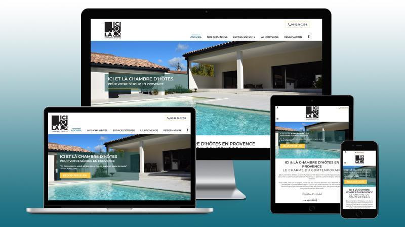 creation du site web ici et la