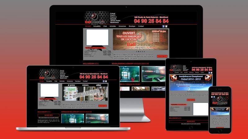 creation site internet avignon monplaisir ballconcept