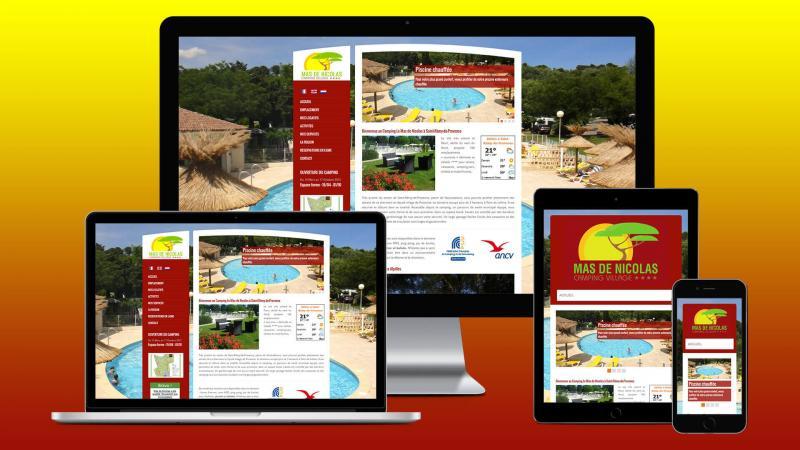 creation site internet camping saint remy de provence mas de nicolas