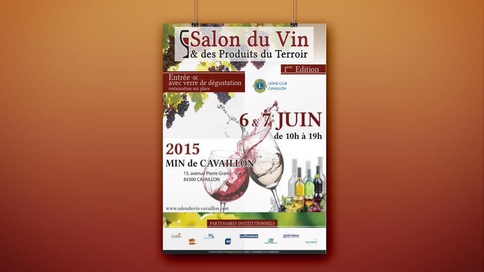 creation affiche salon du vin cavaillon
