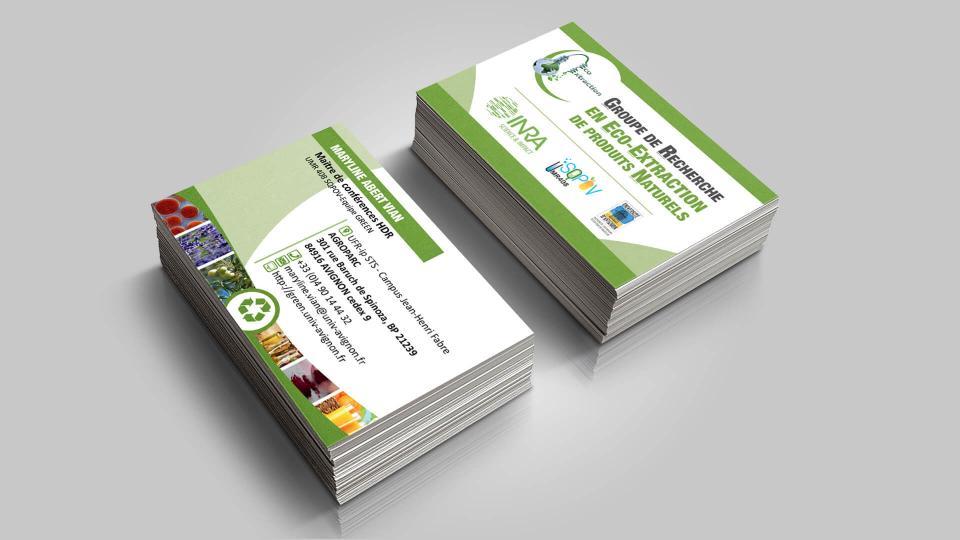 creation carte de visite green avignon