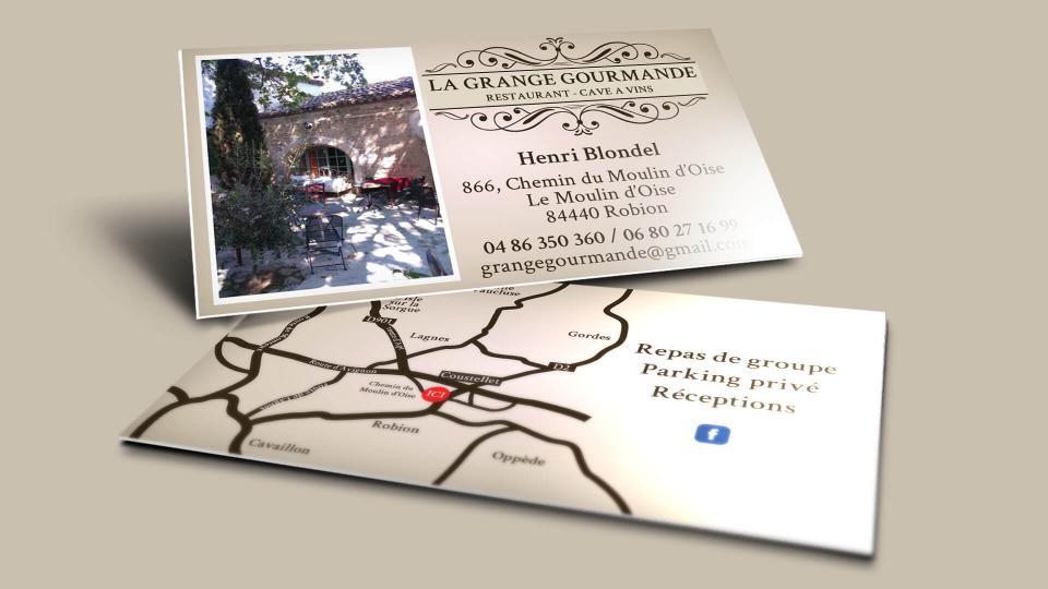 creation carte de visite restaurant coustellet