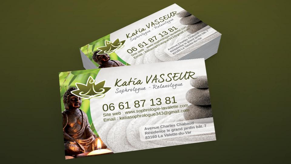 creation de cartes de visite katia vasseur