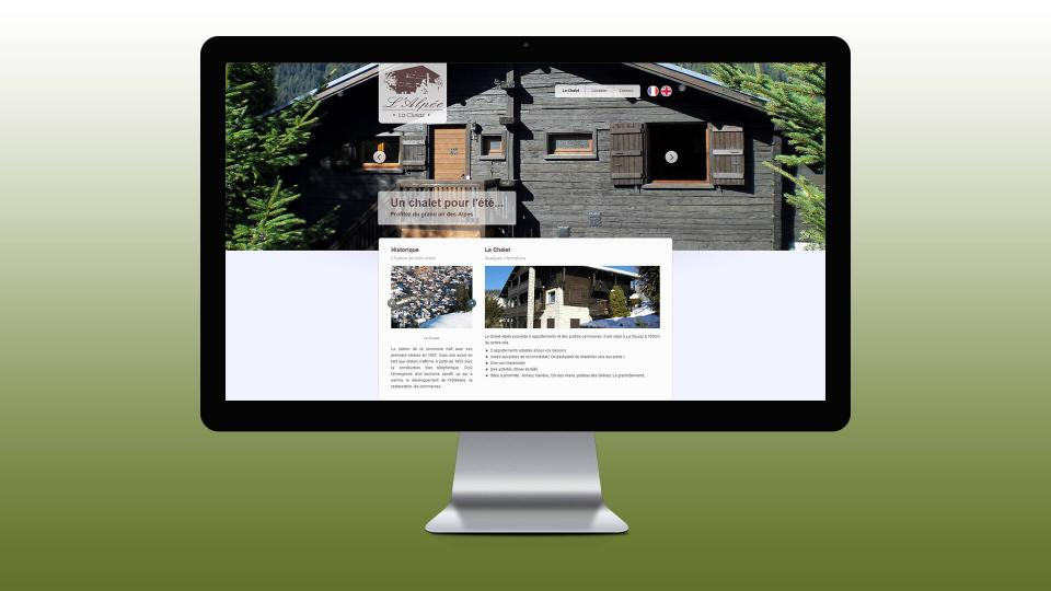 creation site internet chalet la clusaz