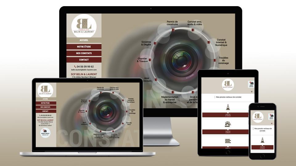 creation site internet constat huissier 30