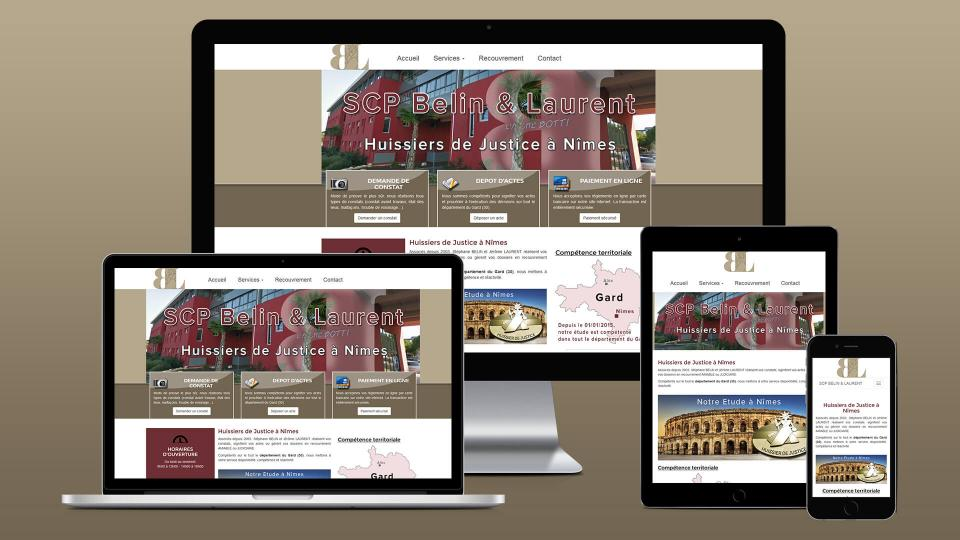 creation site internet huissier de justice belin laurent a nimes