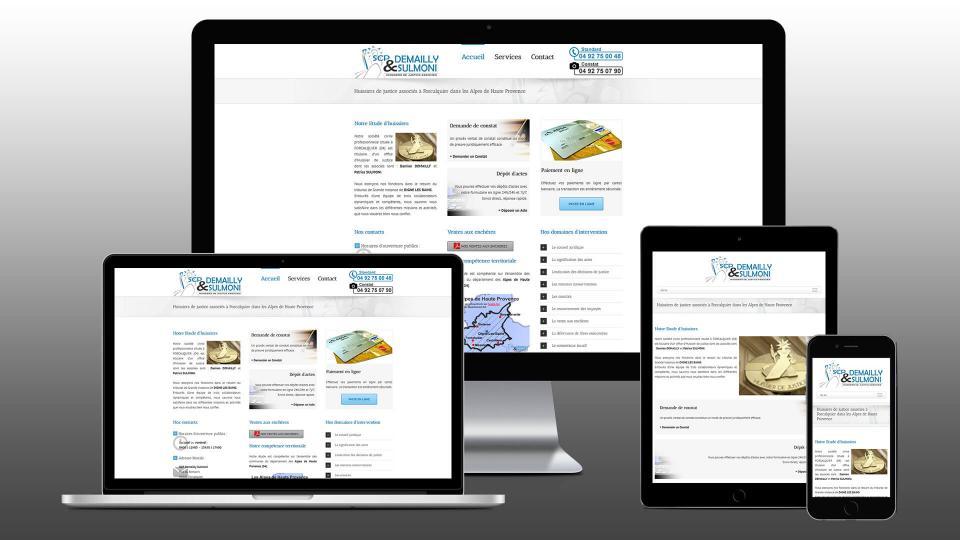 creation site internet huissier de justice forcalquier demailly sulmoni
