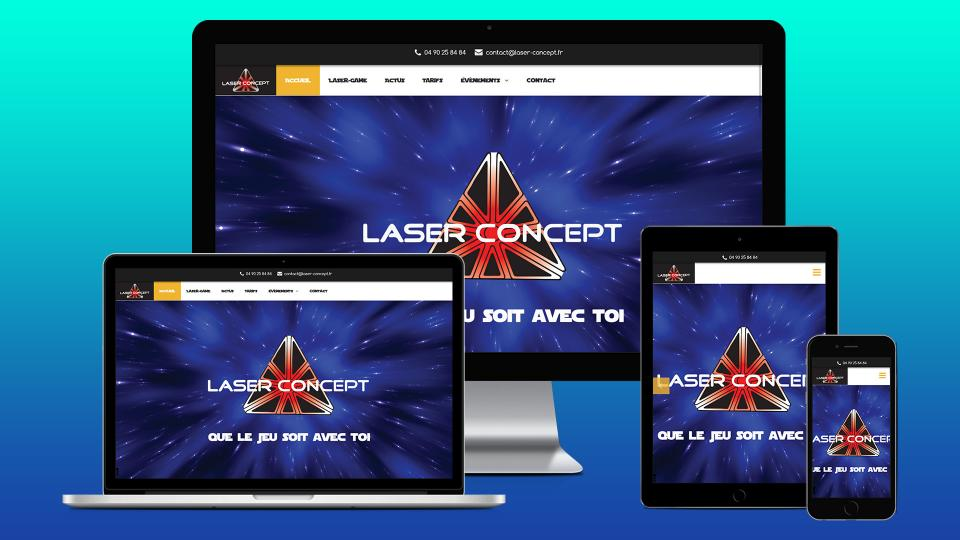 creation site internet laser game avignon