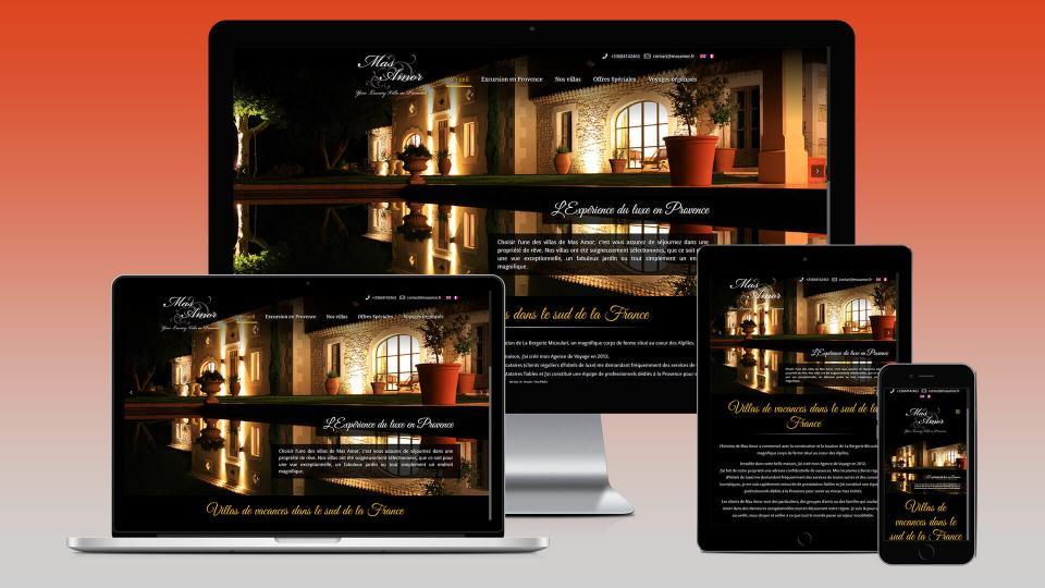 creation site internet location villa saint remy de provence
