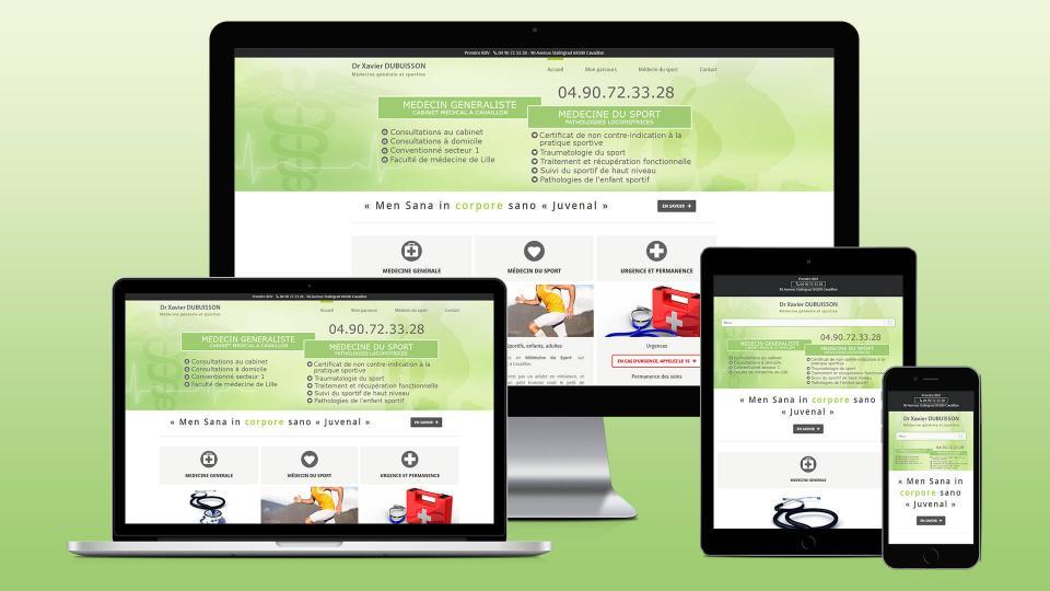 creation site internet medecin docteur xavier dubuisson