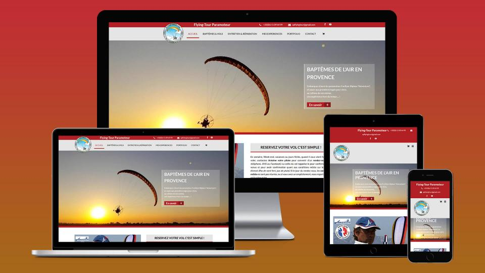 refonte site internet responsive design paramoteur
