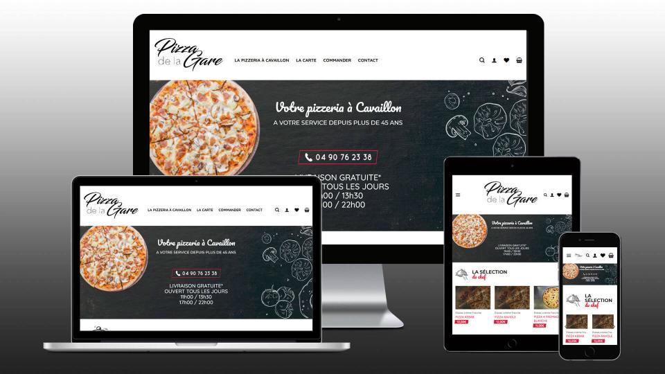 creation site ecommerce pizzeria