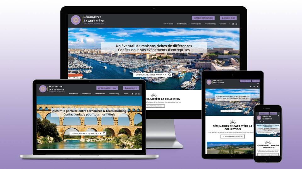 creation site internet seminaire caractere