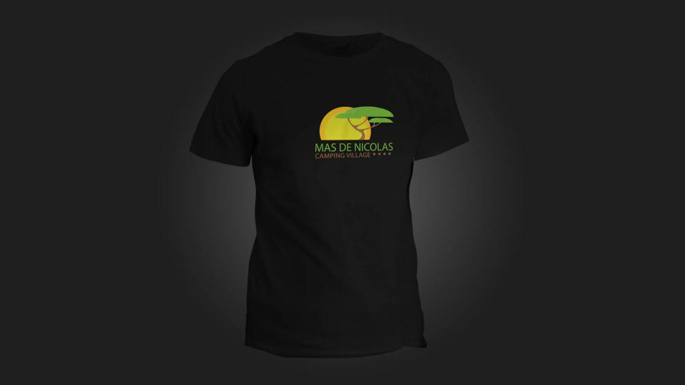 creation tee shirt camping mas de nicolas