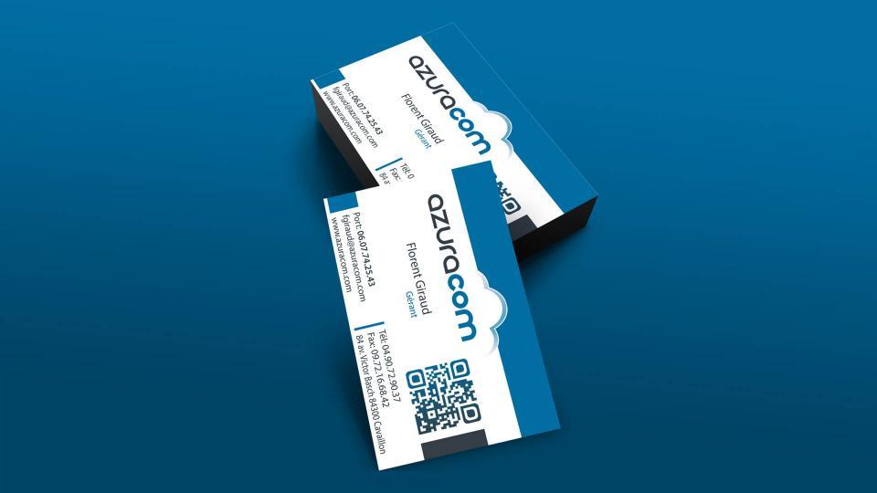 realisation carte de visite agence azuracom