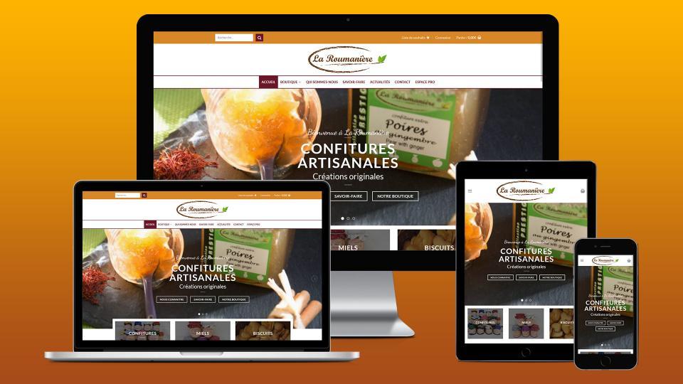 site ecommerce confiturerie la roumaniere