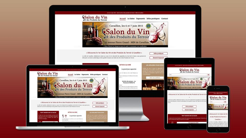 site internet association salon du vin cavaillon