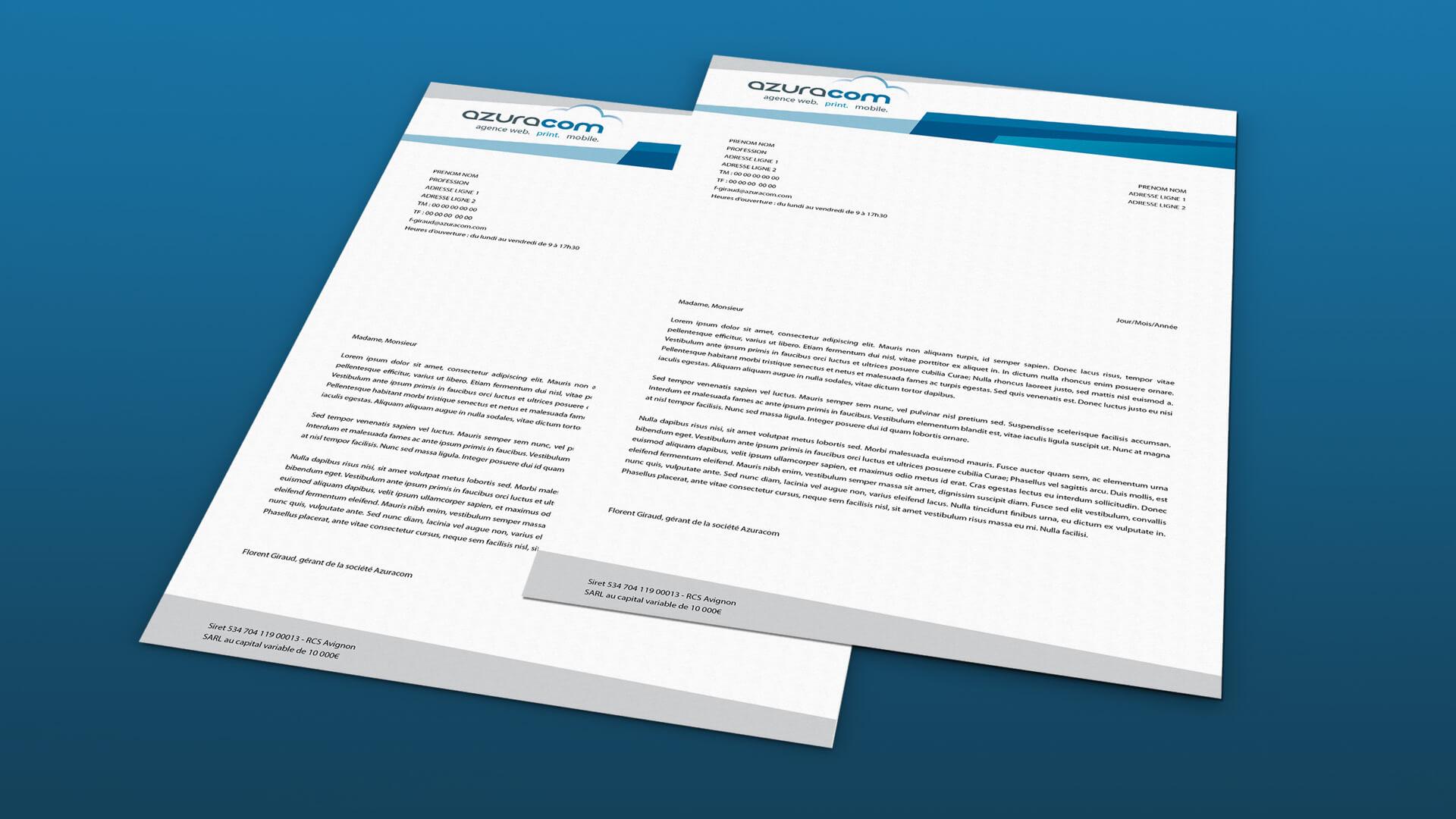 Bien connu Actualités | Papier entête Azuracom | Agence web Azuracom UK03