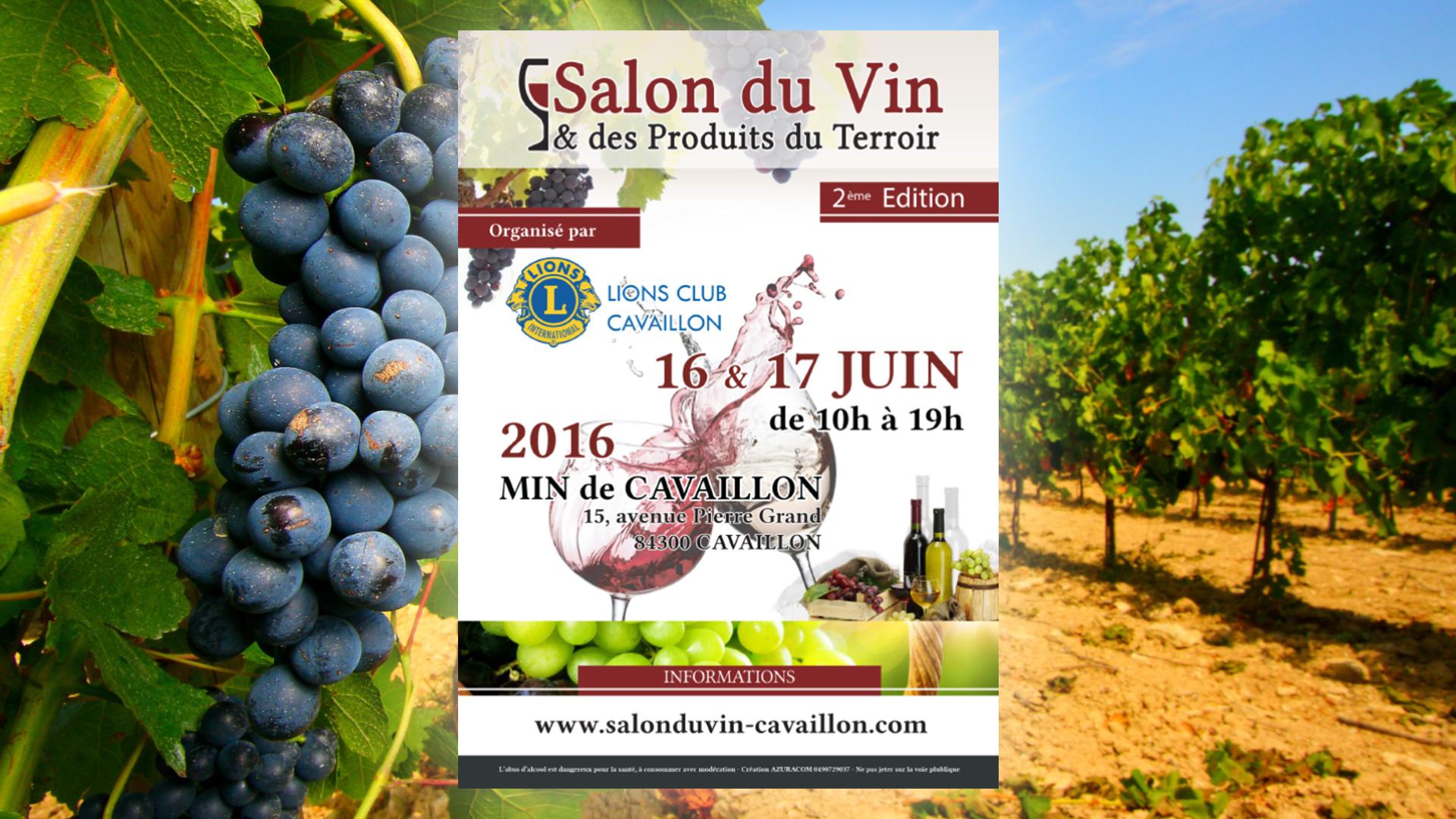 Actualit s salon du vin cavaillon 2016 agence web azuracom for Salon du vin toulouse 2017