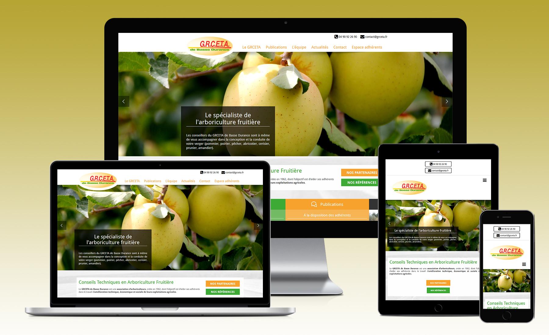 Actualit s site web pour le grceta de basse durance for Le site internet